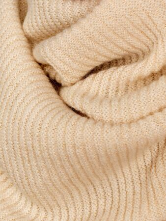 Knitted fabric natural beige wool cozy texture Standard-Bild