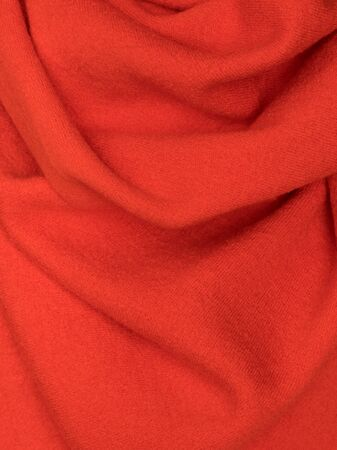 Knitted fabric red wool cozy texture