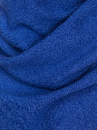 Knitted fabric blue wool cozy texture