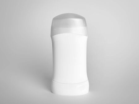 Antiperspirant deodorant standing on white background. skin care concept. copy space
