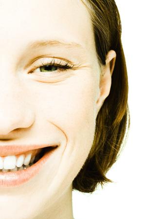 Teenage girls face, extreme close-up