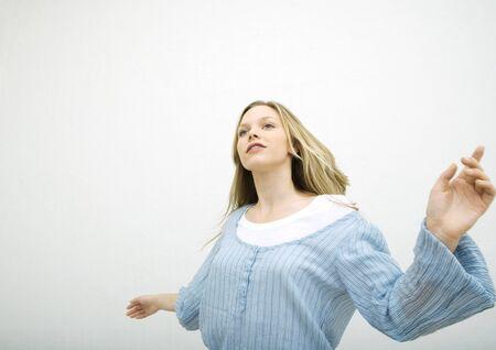 Teenage girl dancing, portrait