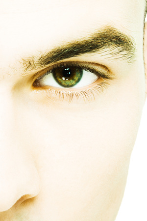 Young mans eye, extreme close-up