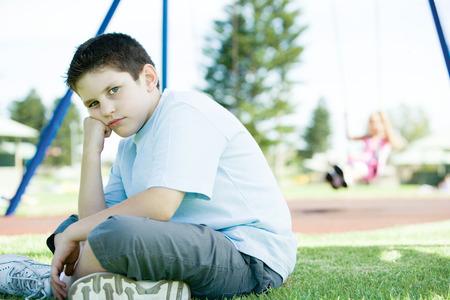 Child sitting on playground