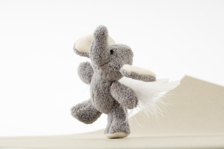 Stuffed elephant toy with wings