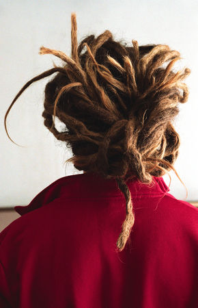 Man with long dreadlocks, rear view LANG_EVOIMAGES
