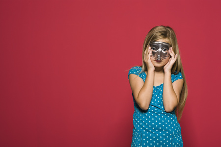 Girl wearing mask, portrait
