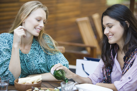 Friends together at restaurant LANG_EVOIMAGES