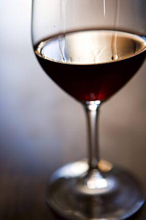 indoor shot: Glass of red wine