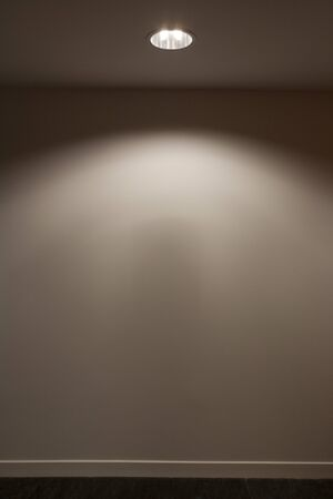 Wall illuminated by ceiling light LANG_EVOIMAGES