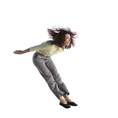 Woman jumping LANG_EVOIMAGES