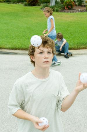 deftness: Boy juggling