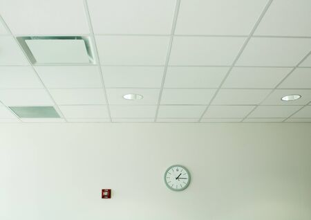 Clock on wall in office space