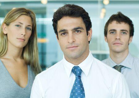 Young executives, looking at camera, portrait