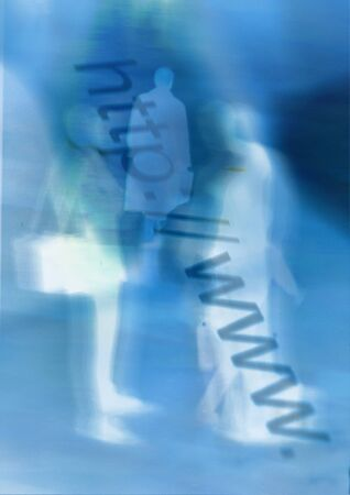 http:www text and human figures, composite, close-up