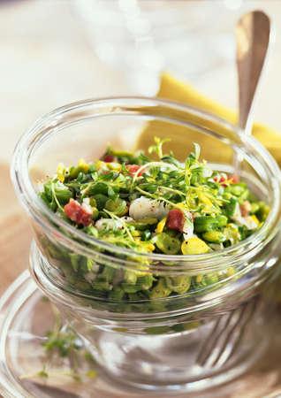 simple life: Broad bean and herb salad, close-up