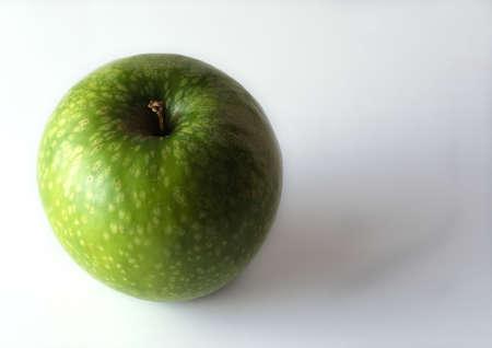 Green apple, overhead view