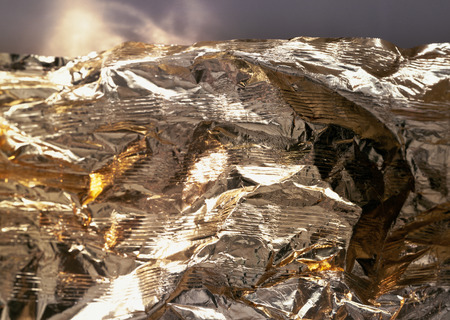 Foil, extreme close-up LANG_EVOIMAGES