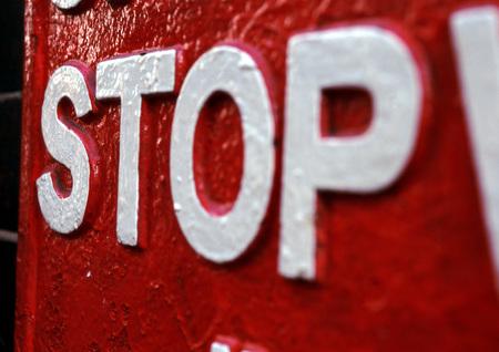 Stop sign, close-up