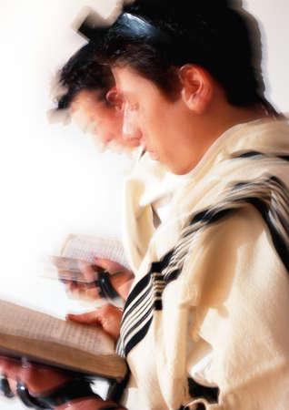 Jewish  men praying, blurry LANG_EVOIMAGES
