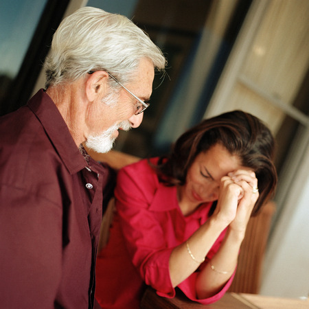 Senior man looking at woman LANG_EVOIMAGES