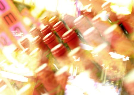Bottles, blurred