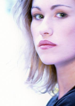 Womans face, close-up, portrait