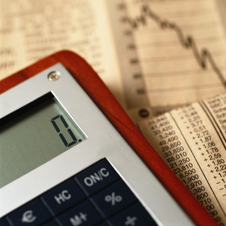 Calculator on top of financial charts