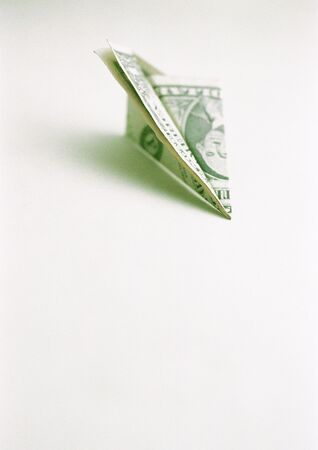 valued: Airplane made with Dollar bill