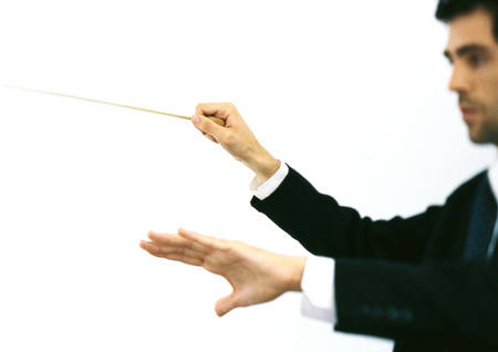 Orchestra conductor, side view LANG_EVOIMAGES