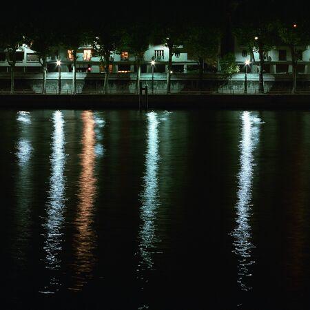 riverbank: River bank at night LANG_EVOIMAGES