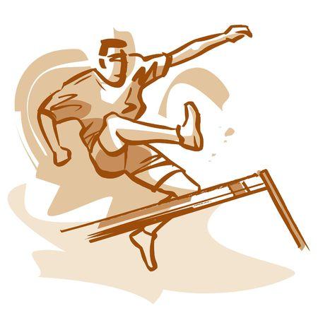 overcoming adversity: Hurdle jumper