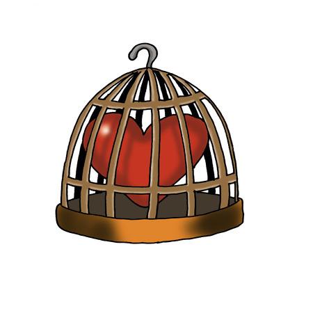 Heart in birdcage LANG_EVOIMAGES
