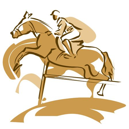 overcoming adversity: Horse jumping
