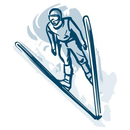 overcoming adversity: Ski jumper