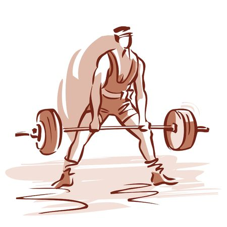 overcoming adversity: Weightlifter LANG_EVOIMAGES