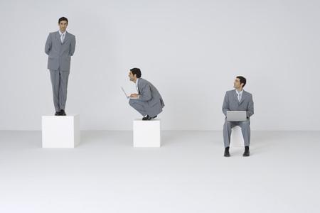 Businessman admiring self, digital composite