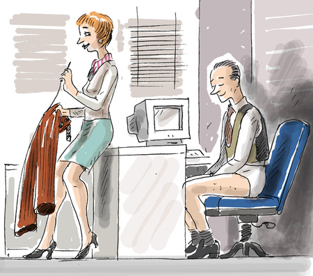 Secretary fixing bosss pants LANG_EVOIMAGES