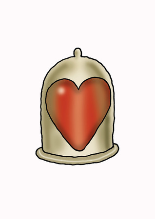 Heart inside condom LANG_EVOIMAGES