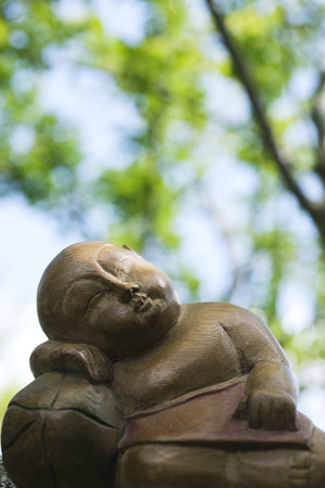 Sleeping Buddha statue, close-up