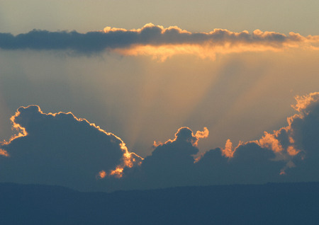 panoramas: Cloudscape at sunset