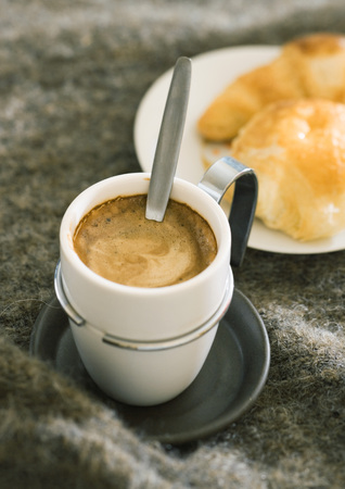 mornings: Cup of espresso and pastries