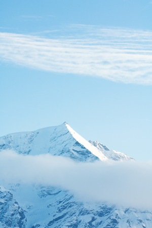 panoramas: Switzerland, clouds moving over snowy mountains