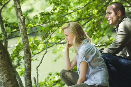 Couple looking at view in nature LANG_EVOIMAGES