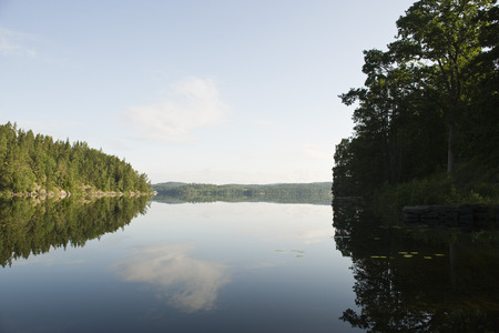 waterscapes: Sweden, tranquil lake scene LANG_EVOIMAGES