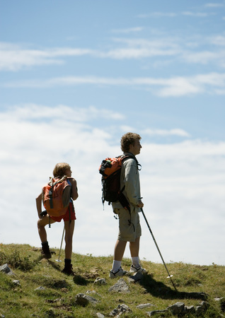 Hikers taking break LANG_EVOIMAGES