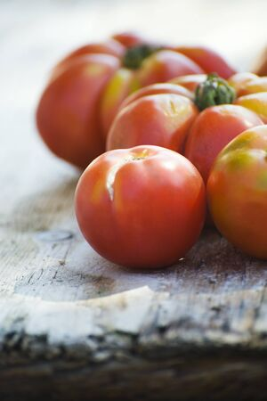 Heirloom tomatoes, close-up