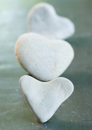Heart shaped stones in line LANG_EVOIMAGES