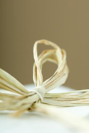 Raffia bow, close-up LANG_EVOIMAGES