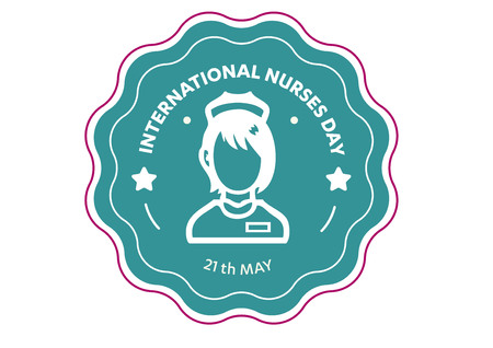calendar design: Nurse Vector icon. simple outline Black Icon on white background,  Illustration isolated for graphic and web design, International Nurses Day,